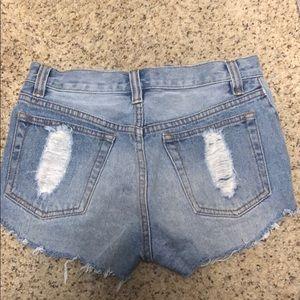 MINKPINK Shorts - MINKPINK Denim Slasher Denim Shorts